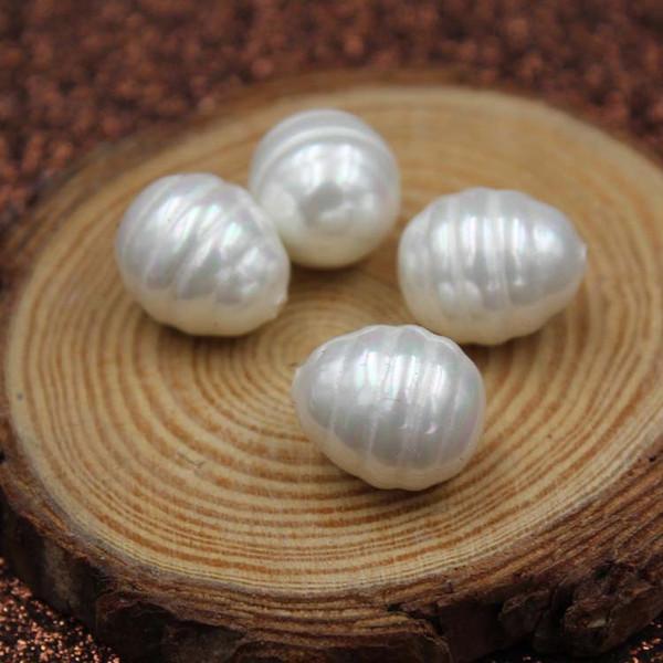 13x16mm fil en forme de goutte Nanyang Fritillary Pearl Pure coquille de mer naturel poli boucles d'oreilles pendentif bricolage demi-trou perle usine en gros