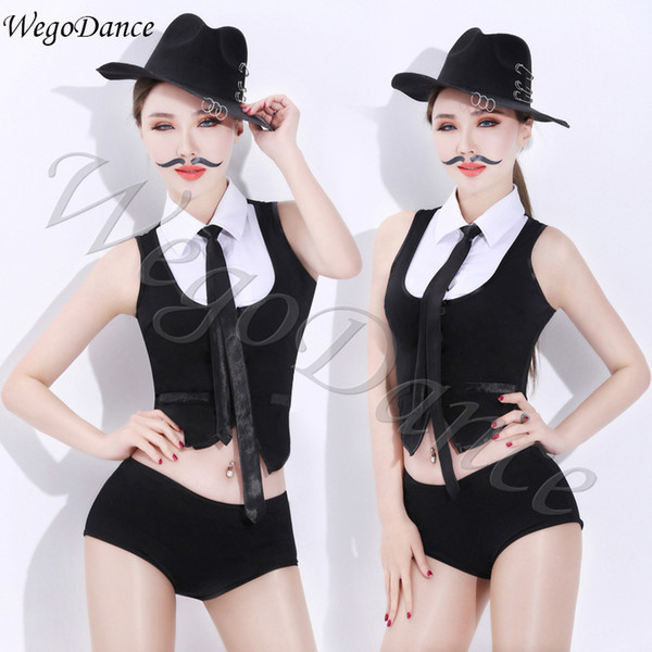 woman DS bar performance new sexy jazz dance costume night DJ female singer stage costume suit