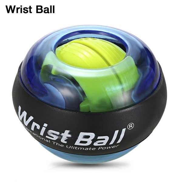 Luminous Wrist Ball Gyroscope Roller Force Ball Gyro Power Wrist Ball Arm Exerciser Strengthener for Computer Typist Pianist