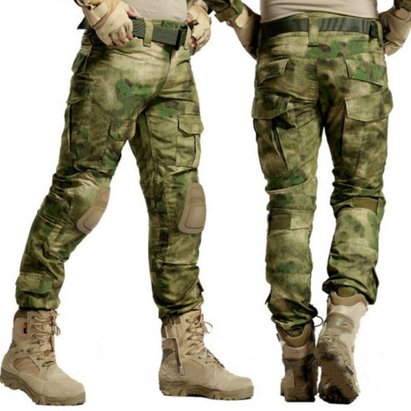 Pantalon tactique camouflage pantalon armée paintball pantalon genouillère hommes SWAT travail cargaison chasseur pantalon de combat