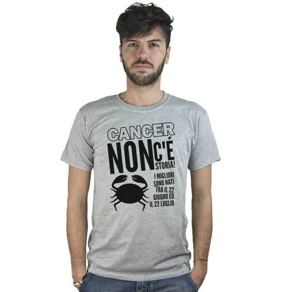 Camiseta Segno Zodiacale Cancro, Maglietta Compleanno Divertente Oroscopo, Grigia Manga corta Camiseta de algodón Camiseta superior