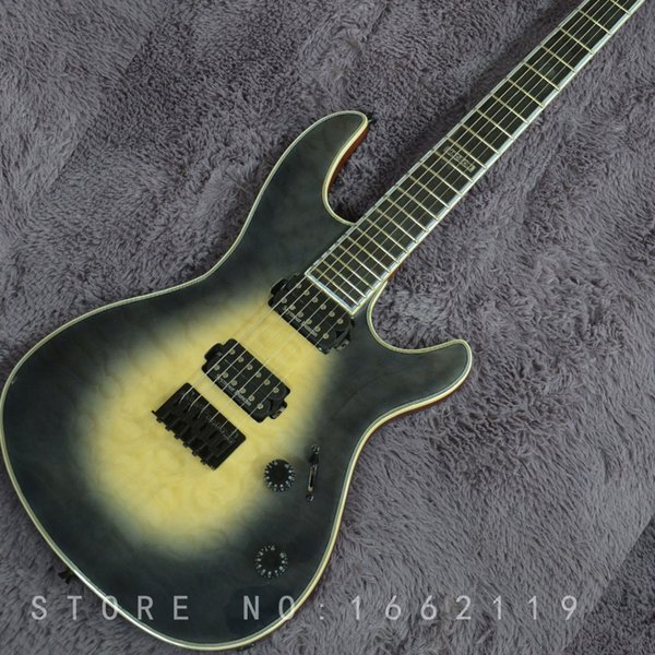 Factory custom neck through body 6 strings electric guitar with mahogany body Ebony fingerboard musical instruments shop