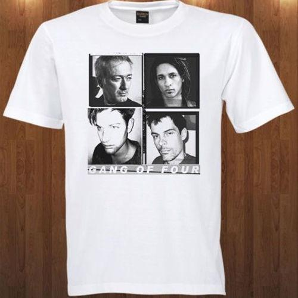 Gang of 4 Tee Jon King, Andy Gill, Dave Allen, Hugo Burnham New Men's T-SHIRT Cotton Low Price Top Tee For Teen Girls