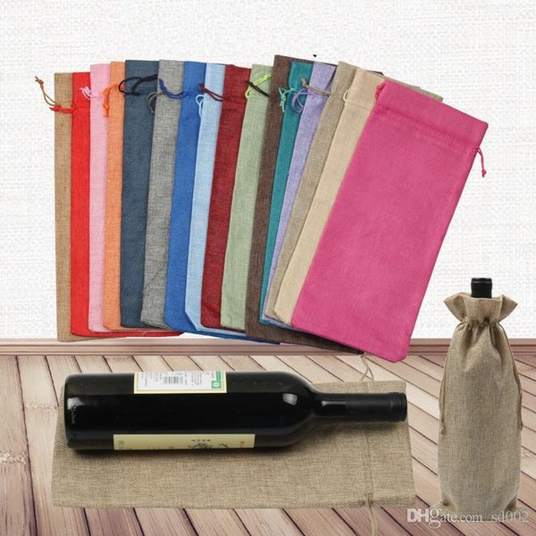 Christmas Wine Cover Multicolor Champagne Bottle Blind Packing Gift Bags Dustproof Drawstring Jute Wraps Wedding Dinner Table Decor 2 2sy ZZ