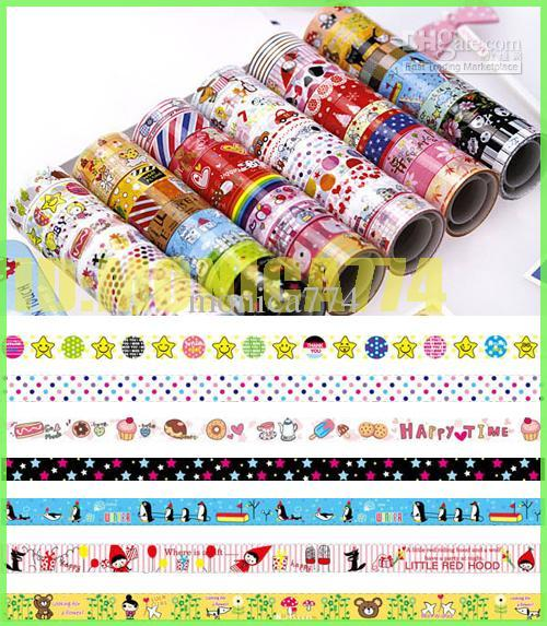 100PCS Cute Cartoon Washi Masking Paper,Picture Frames,Creative Stationery DIY Grid Stickers Kids House Wall Stickers,Photo frame tape