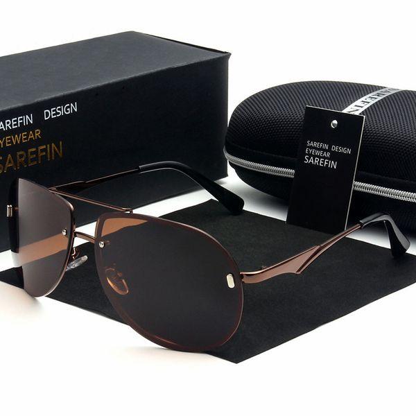 ad55575229 Marca gafas de sol polarizadas Mercurio recubierto Anti reflexión aluminio  aleación de magnesio marco Pesca al