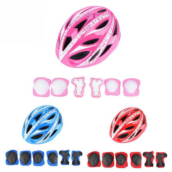 GUB Children Cycling Equipment Set Bicycle Helmet +Wrist Pad+Elbow Pad+Knee Pads Kids Cycling Scooter Roller Safety Protector