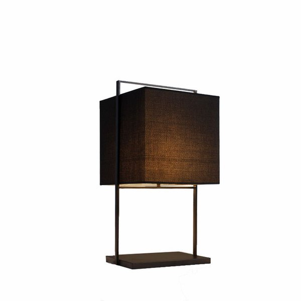 OOVOV Simple Fabric Bedsides Table Lamps Nordic Fashion Iron Study Room Desk Light Living Room Desk Lamp