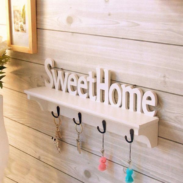 Creative Hooks & Rails Housekeeper Wall Key Hanger Hooks On The Wall Home Shelf Hanger Cloth Racks Key Holders Home