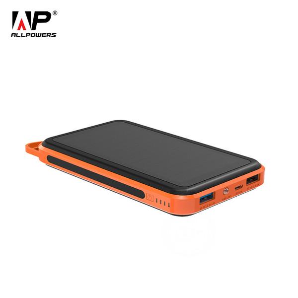 Cargador portátil solar externo del teléfono de la batería del banco del poder 15000mAh para los teléfonos celulares de Samsung Huawei Xiaomi del iPhone