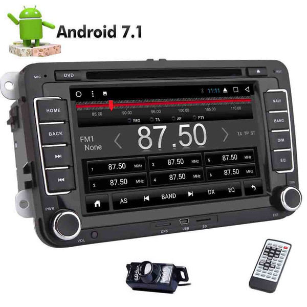 For VW Car Stereo 8-core Android 7.1 Headunit in Dash 2DIN Car DVD Player GPS Navigation Stereo For Volkswagen Golf HD Multi-touchscreen