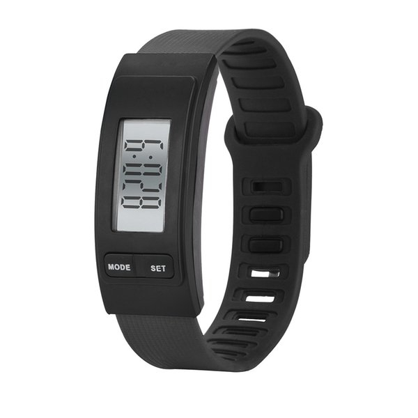 2018 women&men sport watches 1pcs Run Step Watch Bracelet Pedometer Calorie Counter Digital LCD Walking Distance relogio A80