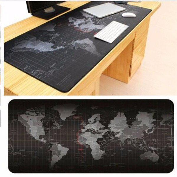 Freeshipping 300*700*2mm Large Size Keyboard Mat World Map mouse pad Pattern Gaming Computer Mouse Keyboard Rubber Mat Pad Table Pad