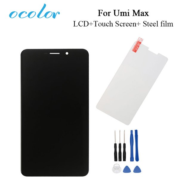 ocolor For Umi max LCD and Touch Screen Tempered Glass Film Perfect Replacement for Umi max Cell Phone Free Shipping With Tools