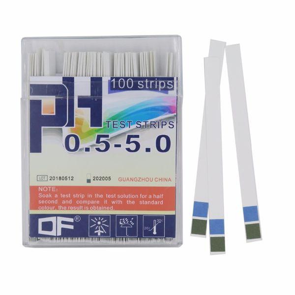 100 stripler 0.5-5.0 pH Test Şeritleri, Ev Laboratuvarı için Alkali Asit Seviyeleri için% 20 indirimli