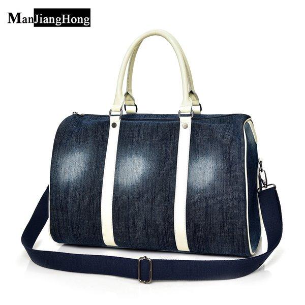 2018 grandes mujeres lienzo bolso de mano bolso de viaje dama denim hobos bandolera mujer gran capacidad de ocio bolsa