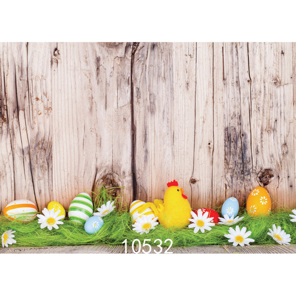 Easter Eggs Board Photo Background for Photo Studio Camera Fotografica Vinyl Cloth Photography Backdrops for Holiday Party Kid