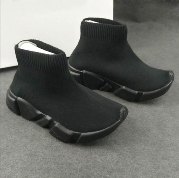 Kinder Speed Trainer Triple Schwarz Rot Weiß Blau Knitsocken Sportschuhe Mercurial Sneakers für Jungen und Mädchen