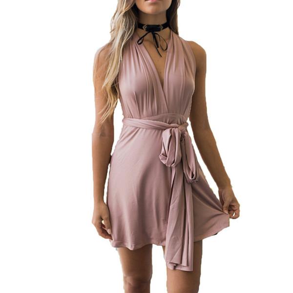2018 verão sexy mulheres vestidos conversíveis envoltório infinito robe femme bandage beach club vestidos de festa vestidos