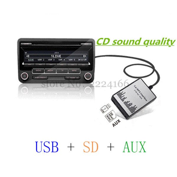 Lonleap New USB SD AUX Car Mp3 Music Adapter CD Changer for Mazda 2 3 5 6 MX-5 RX-8 MPV Interface Car