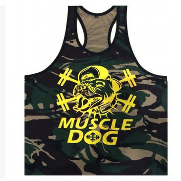 Military Style Camouflage Tank Stringer Fitness Men Movement Undershirt Cotton Bodybuilding Tank Top Golds Fitness Vest