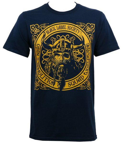 Leqemao Authentic Black Label Gesellschaft Bls Odin Demolition Squad T-Shirt Navy Kurzarm Baumwolle T-Shirt