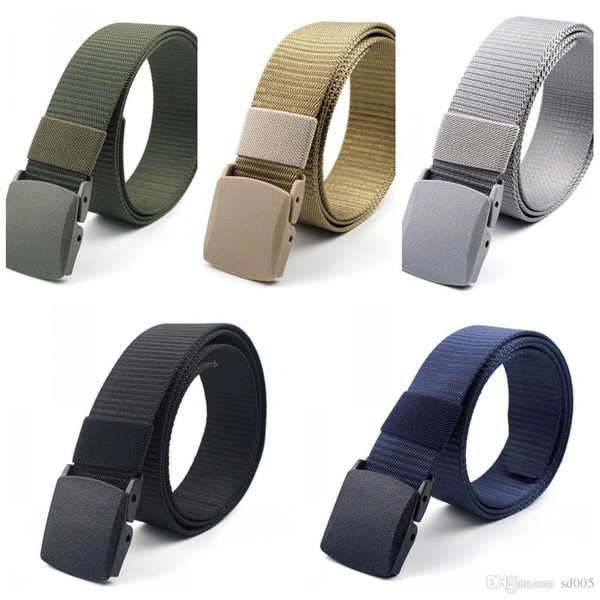 Portable Nylon Tactical Belts Braided Practical Adjustable Men Waistband Classic Plastic Buckle Belt Hot Sale 4 5wz B