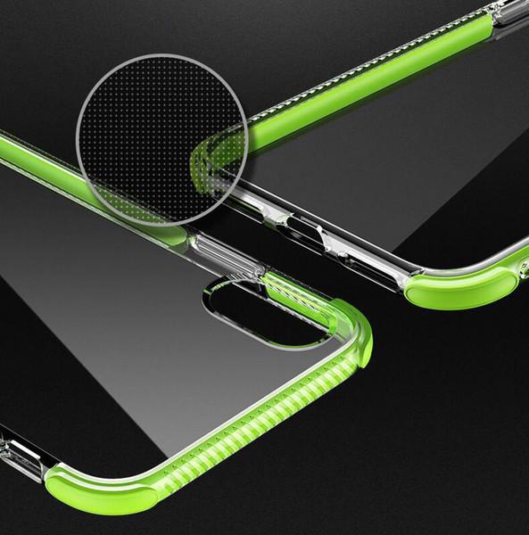 Antichoc Transparent Case Pour iPhone 8 Plus iPhone XR Xs Max Gel Doux TPU Cas de Téléphone Effacer Couverture Arrière pour iphone x 8