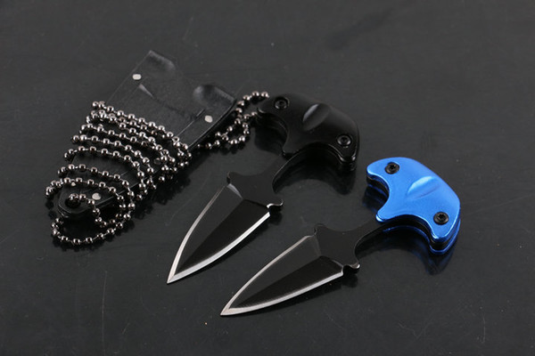 best selling Promotion! Cold steel Cold Steel Safe Maker Push Dagger Knife Mini Fixed blade knife Full tang 440 stainless steel knife knives with sheath
