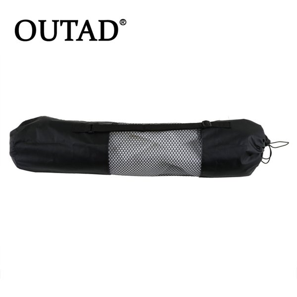 OUTAD 1pc High Quality popular Portable Yoga Mat Bag Polyester Nylon Mesh black backpack for health beautity sports wholesale