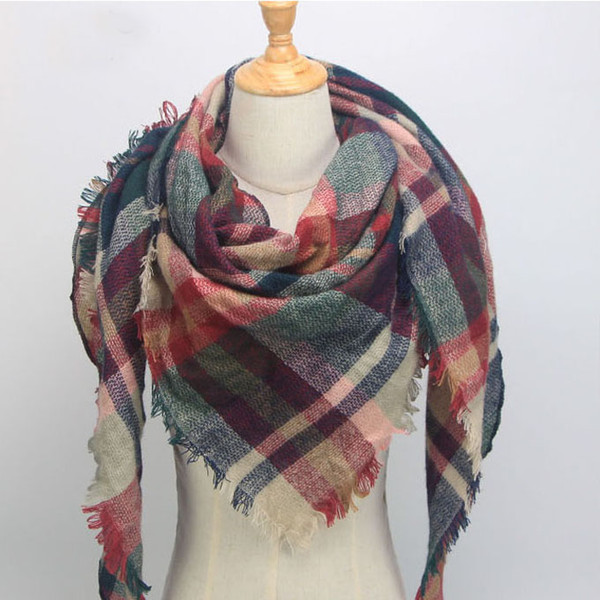 34 Colors hot sale blanket scarf plaid Ideas On Pinterest Burgundy Navy Blue And White Plaid Blanket hot sale Scarf - Fall Blanket Scarf