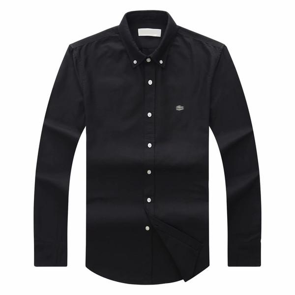 top popular 2018 19 autumn winter mens Designer OXFORD Dress shirt men's Long Sleeve casual crocodile social shirts fashion USA Brand CL polo shirts 2019