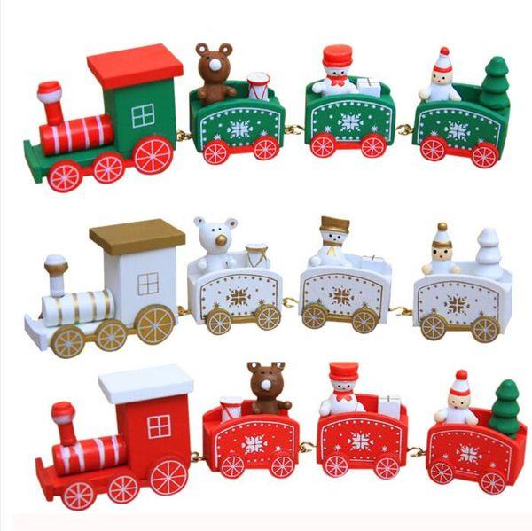 Décoration de Noël Pour La Maison Petit Train Populaire Train En Bois Décor De Noël Saint Valentin Cadeau De Maternelle Nouvel An Fournitures
