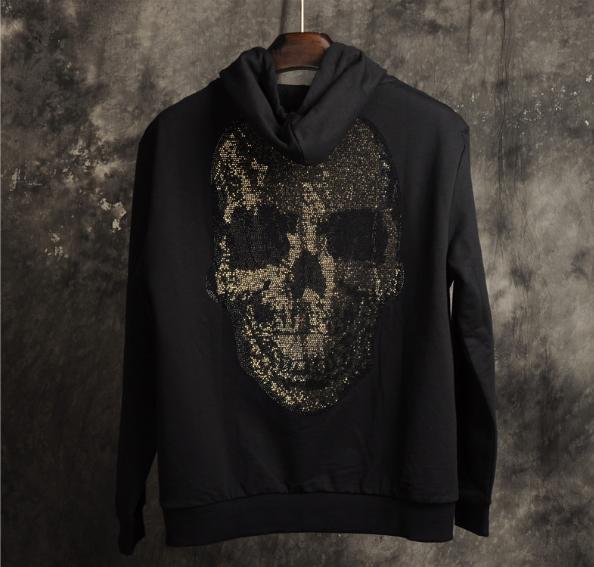 2019 новый с капюшоном мужской свитер свободные удобные Моды череп шаблон дизайнер