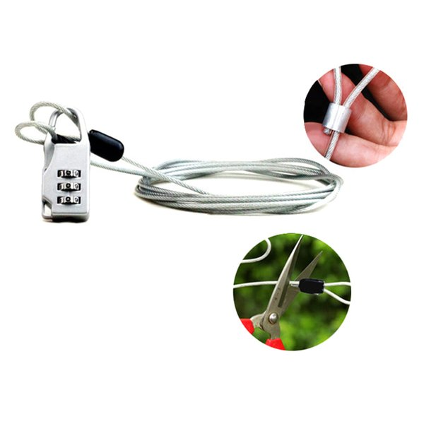 Anti-theft Password Lock Steel Cable Luggage Security Protector Bike Chain Locks Backpack Padlock ASD88