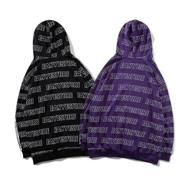 Acheter Hoodies Hommes Grande Lettre Imprimer à Capuchon Pull High Street Mode Coton Pocket Hip Hop Streetwear O Cou à Capuche Automne De 3655 Du