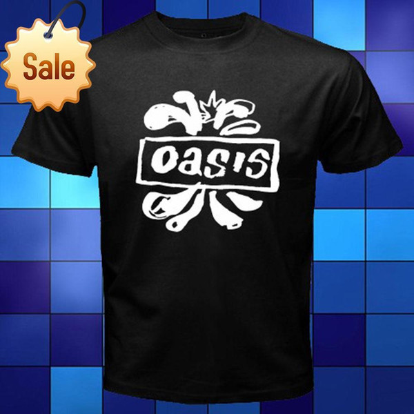 Anime Print Tee New Oasis British Rock Band Logo Noel Liam Gallagher Black T-Shirt Size S to 3XL Novelty Tee Free Shipping