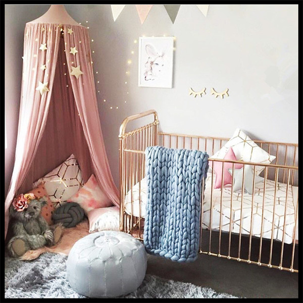 4 colors Kids Boys Girls Princess Kids Room Decoration Baby Bed Round Mosquito Net Tent