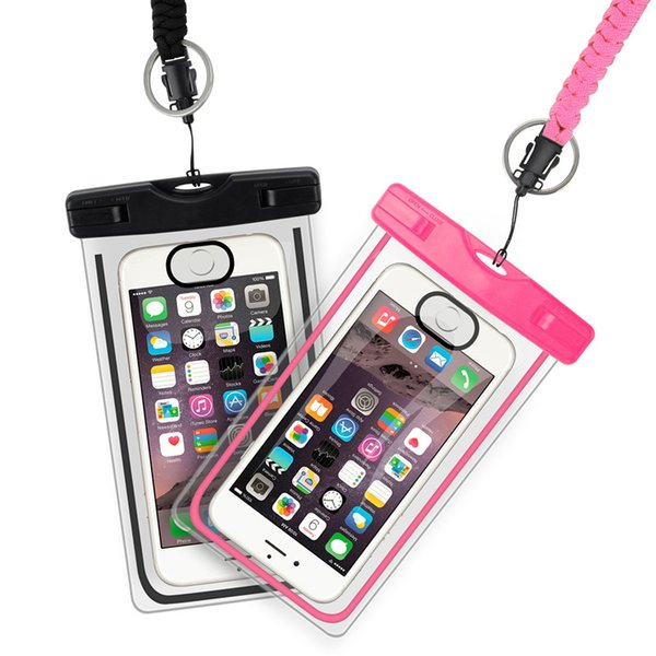 Waterproof Case Universal For iphone 7 6 6s plus samsung S9 S7 Cell Phone Water proof Dry Bag for smart phone up to 5.8 inch diagonal