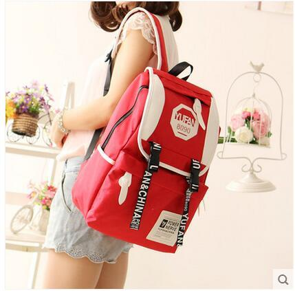 Casual shoulders men and women backpack Japan and South Korea trend Oxford cloth bag college wind travel computer bag