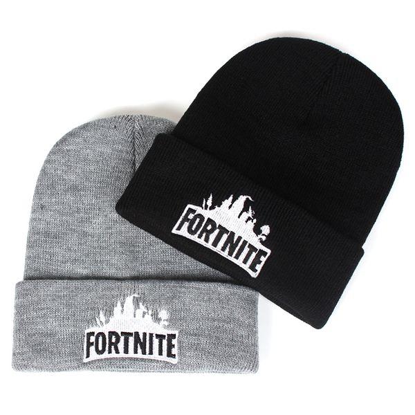 28 styles Fortnite knitted hat women man fashion winter warm black gray cute hip hop caps wool hats