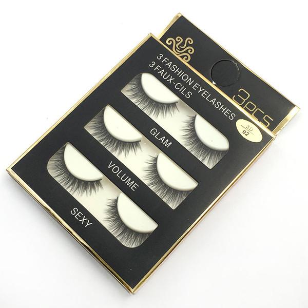3pair/set 3D false eyelashes Mink Hair eyelashes Handmade Beauty Thick Long Soft lashes Fake Eye Lashes Eyelash Sexy High Quality