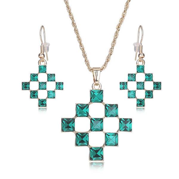 Joyería india AYAYOO nupciales de la joyería perlas africanas de cristal de color oro determinado de la joyería de Nigeria boda para mujer Bisutería