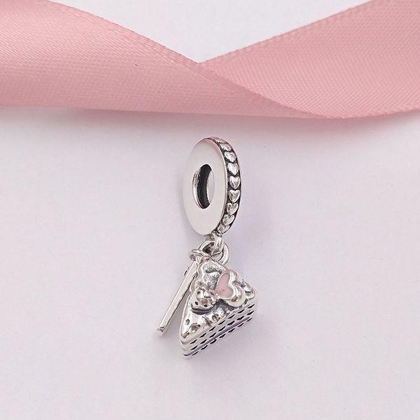 5cef94eb1 Authentic 925 Sterling Silver Beads Celebration Cake Pendant Charm Charms  Fits European Pandora Style Jewelry Bracelets