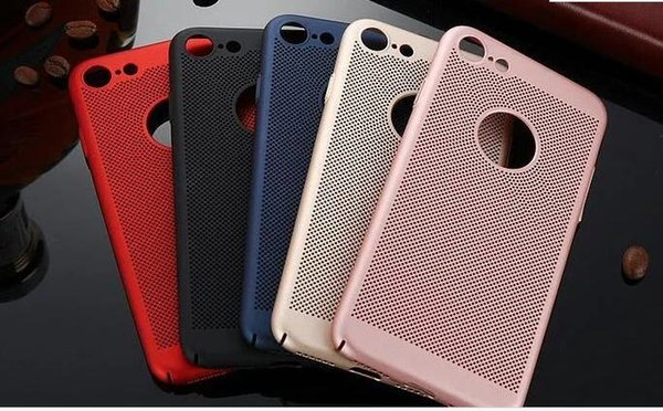 Free DHL whole sale Ultra Thin Hard PC Mesh Phone Cases For iPhone 6 6plus 7 7plus 8
