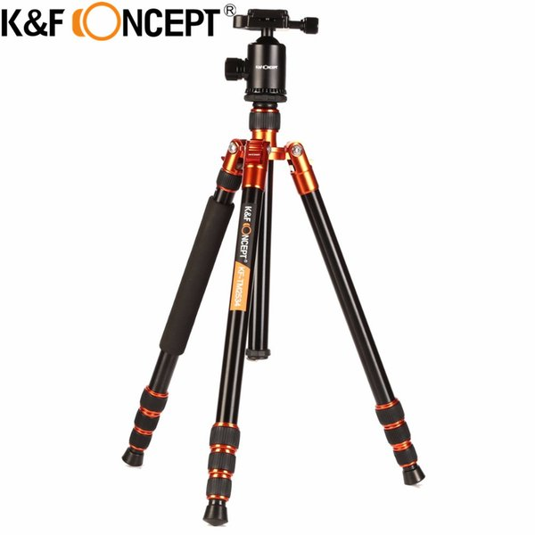 K&F CONCEPT Professional Portable Stable Magnesium Aluminum Alloy 4-Sections Camera Tripod Monopod+Ball Head for DSLR SLR Camera