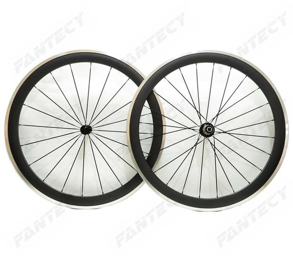 Free shipping 700C alloy brake surface carbon wheels 50mm depth road bike wheelset 25mm width Clincher alloy rim 3k matte finish