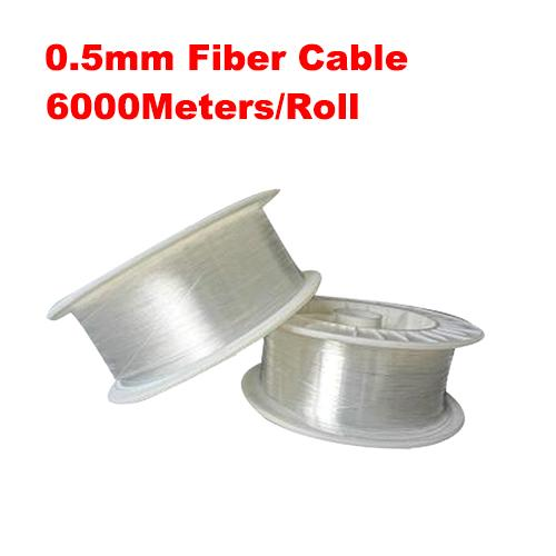 0.5mm diameter 6000m/roll PMMA fiber optic cable end glow for decoration lighting led fiber lights