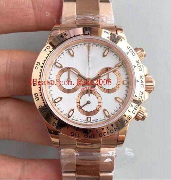 Luxury Best Wristwatches Factory Cosmograph 116505 40MM SWISS ETA Movement 28800bph 18k Rose Gold Automatic mechanical Men Watch Watches