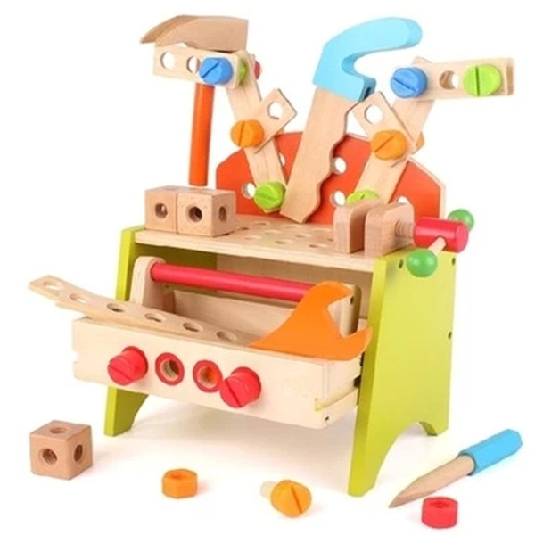 New Arrival Children Toolbox boy toy puzzle simulation repairs demolition assembly force nut repair tool sets baby suit
